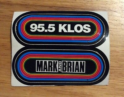 KLOS 95.5 and Mark and Brian Decal Sticker