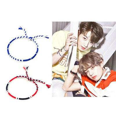 KPOP BTS Bracelets Love yourself JUNGKOOK V Handmade Wristbands Lucky Hand Rope