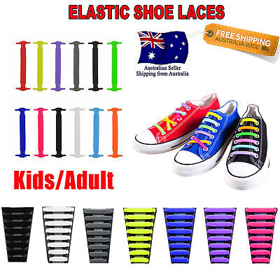 Easy Lazy No Tie Elastic Silicone Shoe Laces Cool Guy Shoelaces Unisex