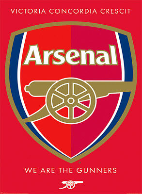 Official Arsenal FC Crest Maxi Poster 91.5 x 61cm We Are The Gunners COYG Gooner