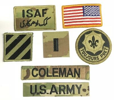 Bekleidung & Schutzausrüstung 9 US ARMY patch Set DCU Desert Uniform Konvolut 4th ID AIRBORNE 2nd ACR Lt LAURY Airsoft