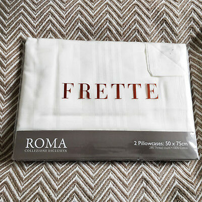 Frette Roma Pair of Pillowcases Ivory Brand New 280 Thread Count - BNWT