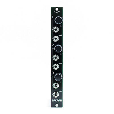 """Takaab """"3AT"""" Tripple Passive Attenuator Eurorack Synthesizer Module (3HP)"""