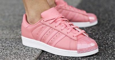 79d44699c56 1711 adidas Originals Superstar Metal Toe Rose Women s Sneakers Shoes BY9750