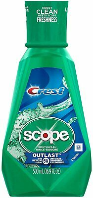 Crest Plus Scope Outlast Mouthwash, Mint - 16.90 Oz, 1-Each (Pack of 3)