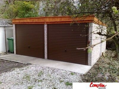 PREFAB GARAGES & BUILDINGS Double Pent roof garage 16ft6in(W) x 18ft3in(L)