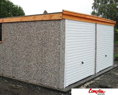 PREFAB GARAGES & BUILDINGS Pent Double garage 16ft6in(W) x 16ft3in standard