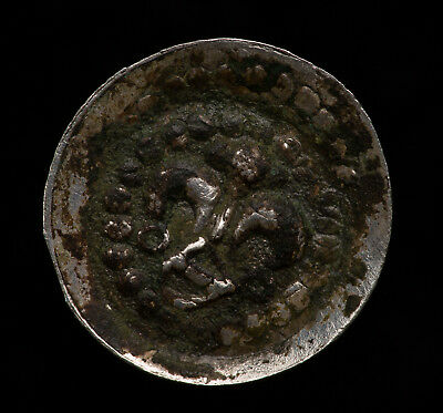 Medieval bracteate silver coin