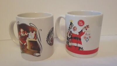 Santa claus Christmas holiday coke mugs excellent condition collectable