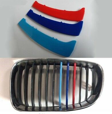 BMW M SPORT GRILL 3 COLOUR COVER SPORT STRIP 1 SERIES E87 E81 M5 2004-2011 round