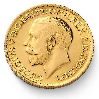 22CT UK KING GEORGE V Full Sovereign Gold 8 Grams Coin Pure Real Gold Best Price