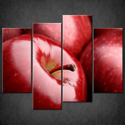 Red Apples Canvas Print Picture Wall Art Home Kitchen Decor Free Delivery