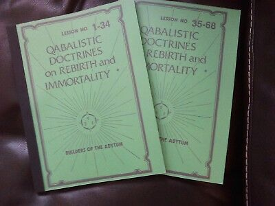 Cabalistic Doctrines/Rebirth/Immortality,AMORC,Rosicrucian,Occult,Esoteric,BOTA