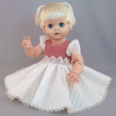 3 DRESSES for BIG BABY & WALKER DOLLS ~ 3 in 1 pattern ~ GLAMOUR BABY