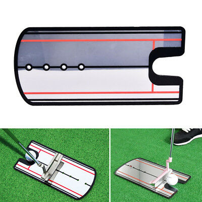 Golf Schaukel Straight Practice Putting Spiegelausrichtung Training Eye Line ZP