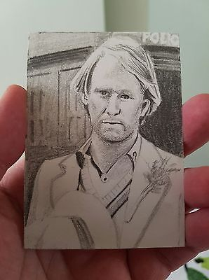 Dr Who Peter Davidson Hand Drawn Sketch Original Art Trading Card Psc Aceo