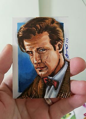 Dr Who Matt Smith Hand Drawn Sketch Card By Jonathan D Gordon Psc Aceo Art