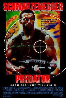 Retro Predator Movie Poste Fridge Magnet - Arnold Schwarzenegger