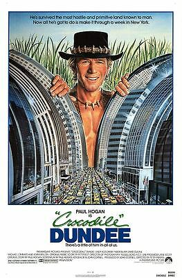 Retro Crocodile Dundee Movie Poster Fridge Magnet - Paul Hogan