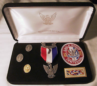 BSA Boy Scout CENTENNIAL Eagle Scout Set – Medal, Pins & Patches NEW IN BOX