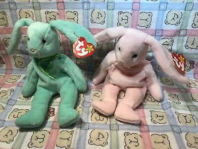 Ty Beanie Baby Hippity And Hoppity The Rabbit Vguc Rare With Errors