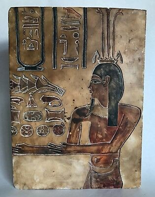 Egyptian Stone Relief Fragment Weighs Approximately 5 pounds