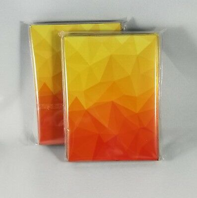 100 Graphic Matte Card Sleeves, Deck Protectors. Fits Pokemon & MTG. Orange/Red.