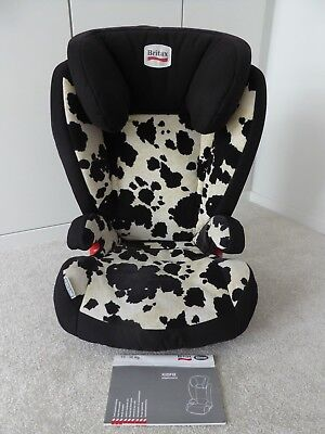 Britax Romer Kidfix Group 2 3 ISOFIX Car Seat Cowmooflage Ex Condition RARE