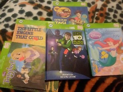 Lot of 5 Leap Frog Tag Reader Books Reading System
