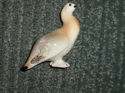 "Vintage Lomonosov Shiny Porcelain Partridge 5.5"" H X 5"" L Made in USSR Bird, GUC"