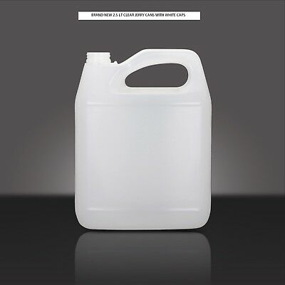 2.5 Lt Clear Jerry Cans Plastic Brand New