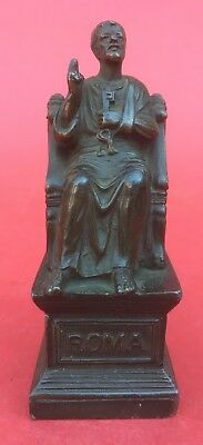 Antique Grand Tour bronzed spelter figure of St. Peter