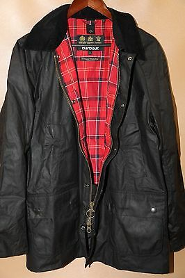 #91 Barbour Ashby Waxed Cotton Jacket Size L BLACK