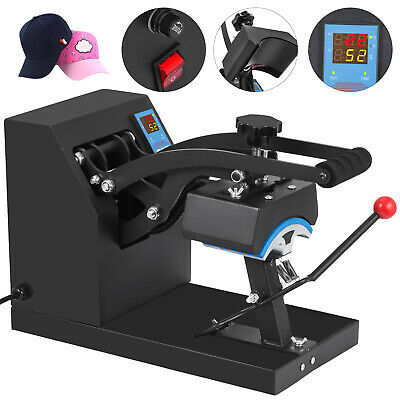 "Heat Press Transfer Digital Clamshell 5.5""x3.5"" Hat Cap Sublimation Machine New"