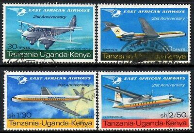 (Ref-11122) East Africa K.U.T. 1967 East African Airways SG.29/32 Used