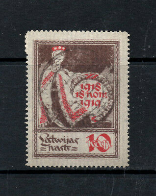 (Ref-8366) Latvia 1919 1st Anniversary of Independence (33mmx45mm)  SG.32  Used