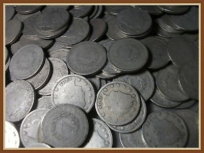 "1 (One) Liberty V Nickel, Type Coin Sale, Nice Coins ""G to G+ Grades"""