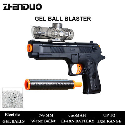 Air Hop Hand Gun Model Electric Soft Bullet Toy Childrens Police War Game Toys