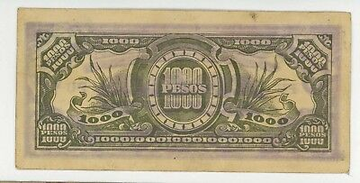 1944 ND Philippines 1000 Peso Inflation Banknote Japanese Government Paper Money