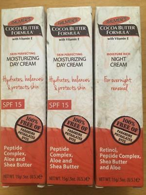 3x Palmer's Cocoa Butter Formula 2x day, 1x Night Cream shop soiled FREE POS