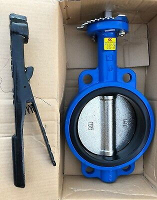 """New 6"""" Wafer Style Butterfly Valve Series C200, Flange 125/150, CWP: 200PSI A536"""