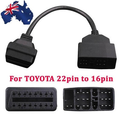 For TOYOTA 22pin to 16pin OBD1 to OBD2 Connect Cable Converter Adapter Cable