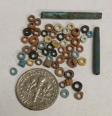 More than FIFTY 2500 Year old Ancient Egyptian Faience Mummy Beads (G7001)