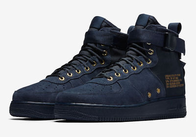 Nike SF Air Force 1 Mid Obsidian Suede Special Fld Boot 917753 400 Multi Size
