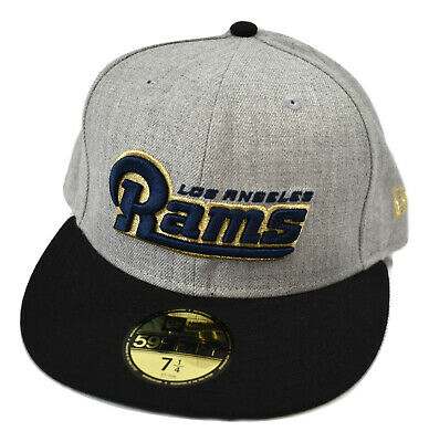 7bf9d85e385 New Era 59Fifty Mens NFL Los Angeles Rams Fitted Hat Cap New 7