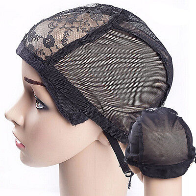 Weaving Wig Cap Adjustable Straps for Making Wigs Lace Mesh Stretchy Net cn