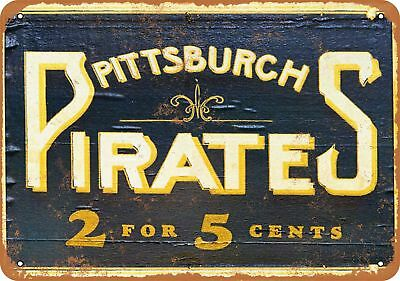 "7"" x 10"" Metal Sign - Pittsburgh Pirates Cigars - Vintage Look Reproduction"