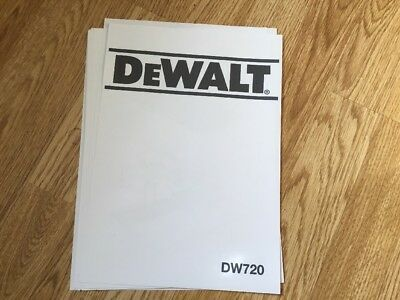 DeWALT Radial Arm Saw DW720  User Manual Paper Copies Free Postage