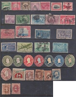(K78-2) 1885-1950 USA 35stamps including delivery PO early issues (B)
