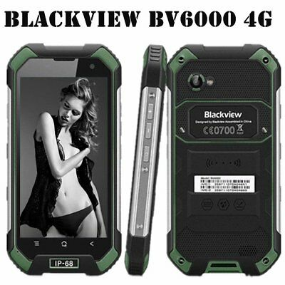 Blackview BV6000 4.7 4G Android 6.0 32 GB 13MP IP68 imperméable Smartphone vert